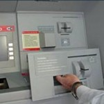 An ATM skimmer  panel that fits directly on top of the real ATM