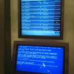 Reader submitted BSoD at St. Pancras International railway station in London, UK.
