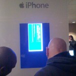 Funny BSoD that was powering an iPhone display booth at a security conference I attended in Washington, D.C.