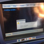 Reader-submitted fatal error image from a taxi in New York City