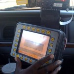 No Fare: This Redtop cabbie was cranky, as you can see the meter isn't running because the program kept crashing.