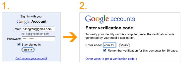 how to create google password