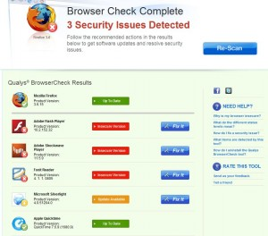 Qualys Browser Check plug-in
