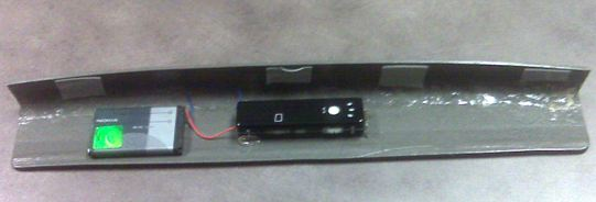 Backside of hidden camera for ATM skimmer