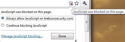 Blocking JavaScript in the Browser — Krebs on Security
