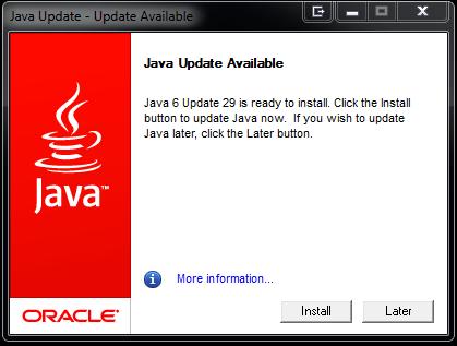 Java 6 Update 29 — Krebs on Security