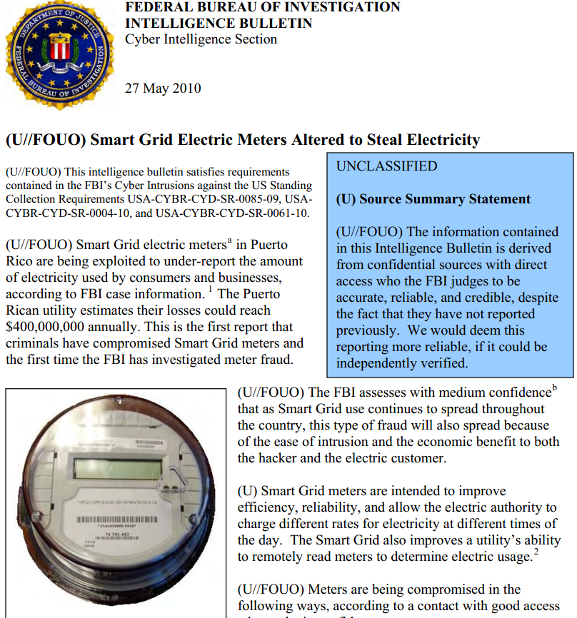 FBI: Smart Meter Hacks Likely to Spread — Krebs on Security