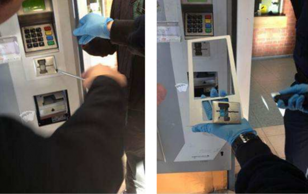Skimming devices found at train ticket kiosks in Europe. Source: EAST