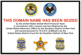 After being unreachable for four days, Libertyreserve.com's homepage now includes this seizure notice.