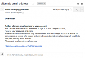 Phishing email targeting Iranians. Source: Google.