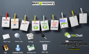 The seriously ghetto options page for BestRecovery web-based keylogger service.
