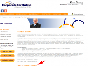 "CorporateCarOnline says: ""Trust Us: Your Data is Secure"""