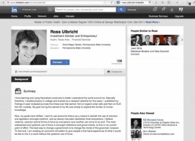 Ulbricht's LinkedIn profile, as described by the government's complaint.