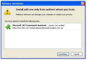 The fraudulent Firefox add-on.