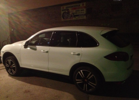 "A user who picked the nickname ""tolst"" or ""fatty"" posted this image of his new Porsche Cayenne in March 2013"