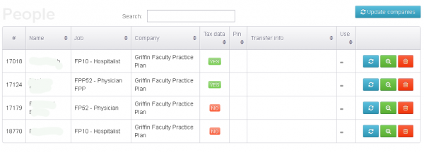 Griffin employee tax records, as recorded in the fraudsters' Web-based control panel.