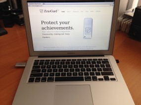 Zeusgard, with wireless adapter, on a Macbook Air.