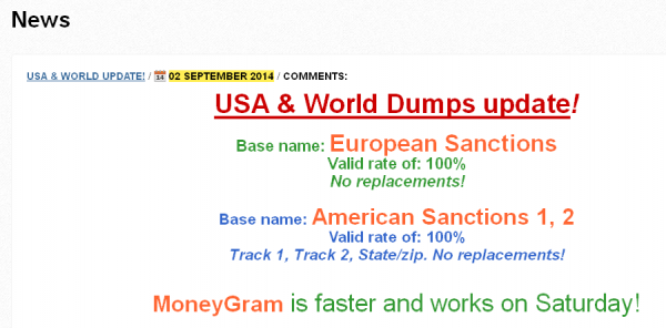 "A massive new batch of cards labeled ""American Sanctions"" and ""European Sanctions"" went on sale Tuesday, Sept. 2, 2014."