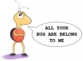 The Bugzilla mascot.