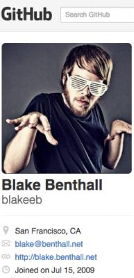 Benthall's profile on Github.