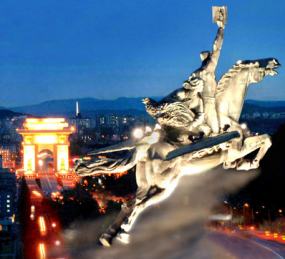 A Chollima statue in North Korea.