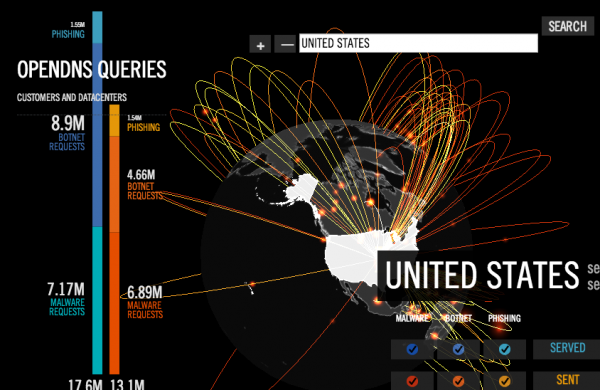 Data from OpenDNS's Global Network graph.
