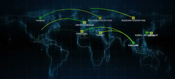 "FireEye's ""Cyber Threat Map"""