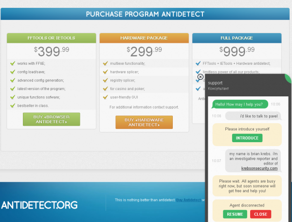 Antidetect retails for between $399 and $999, and includes live support.