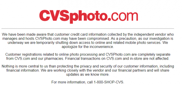 CVS Probes Card Breach at Online Photo Unit