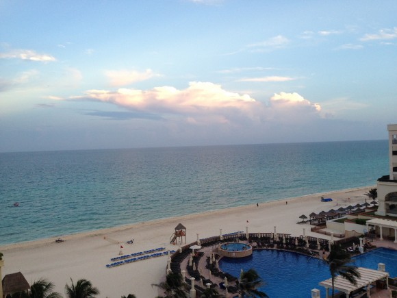 View from the Marriott CasaMaga Hotel in Cancun.