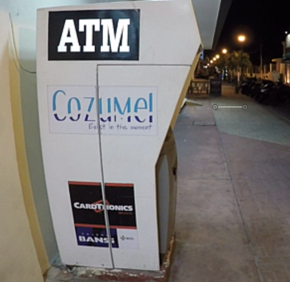 A compromised ATM in Cozumel.
