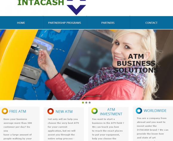 Intacash.com's home page