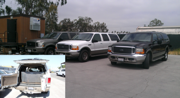 Fuel theft gangs converted this van into a bladder truck. Image: Secret Service.