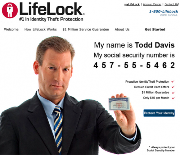 An ad for LifeLock services.