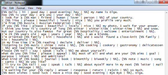 Sample responses to online dating emails