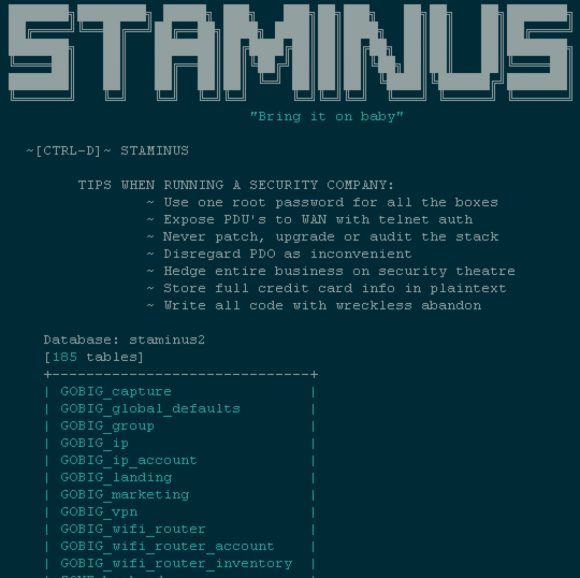 The e-zine posted online Thursday following an outage at Staminus Communications.