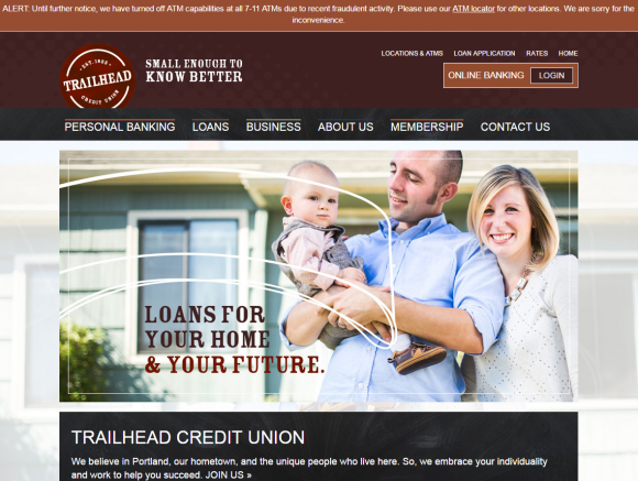 Trailhead Credit Union has stopped allowing members to withdraw cash from 7-11 ATMs.