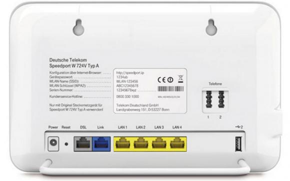 A Deutsche Telekom Speedport DSL modem.