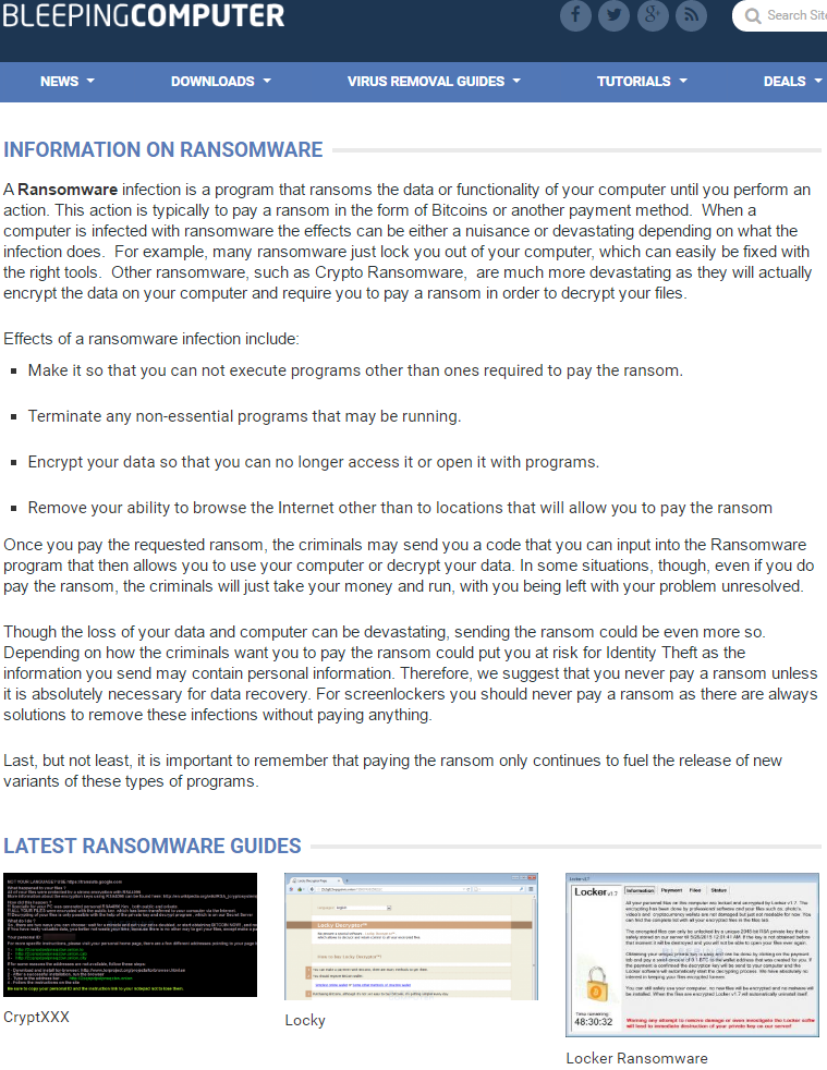 Before You Pay that Ransomware Demand… — Krebs on Security