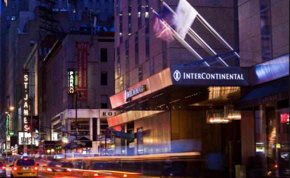 An Intercontinental hotel in New York City.