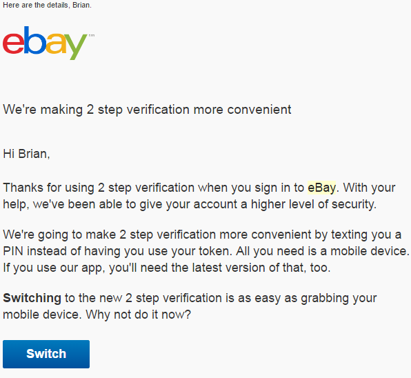 Ebay Asks Users To Downgrade Security Krebs On Security