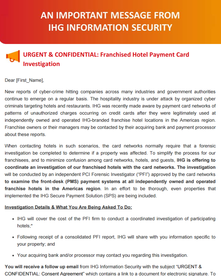 Ihg Franchises Who Accepted The Security Inspections