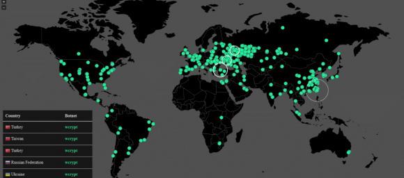 A map tracking the global spread of the Wana ransomware strain. Image: Malwaretech.com.