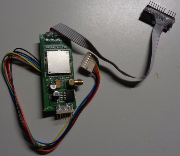 A GSM-based card skimmer found embedded in a gas pump in the northeastern United States.