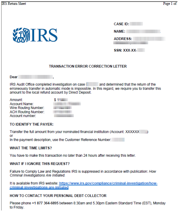 Why Would The Irs Send A Certified Letter.Irs Scam Leverages Hacked Tax Preparers Client Bank