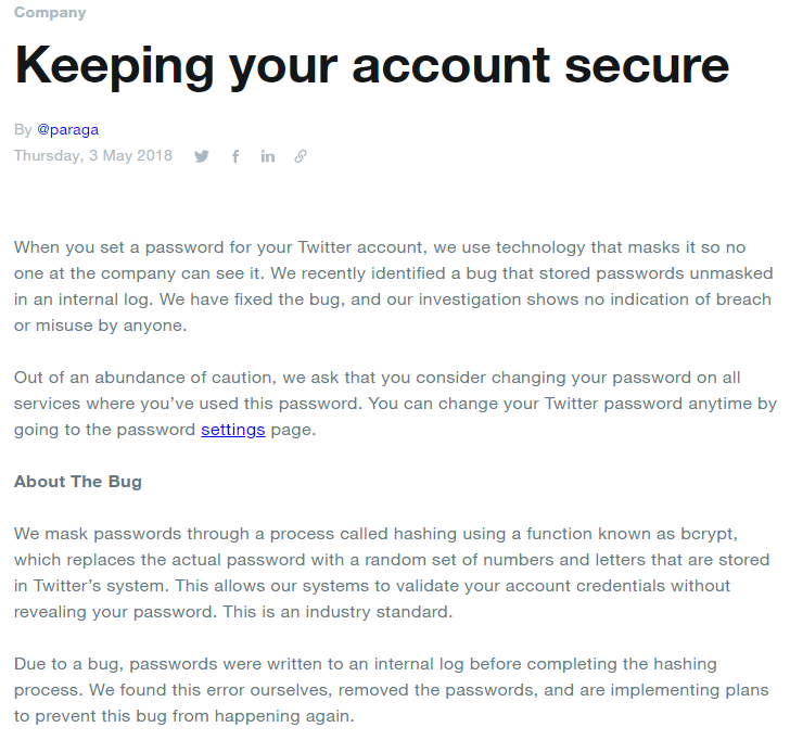 Twitter to All Users: Change Your Password Now! — Krebs on
