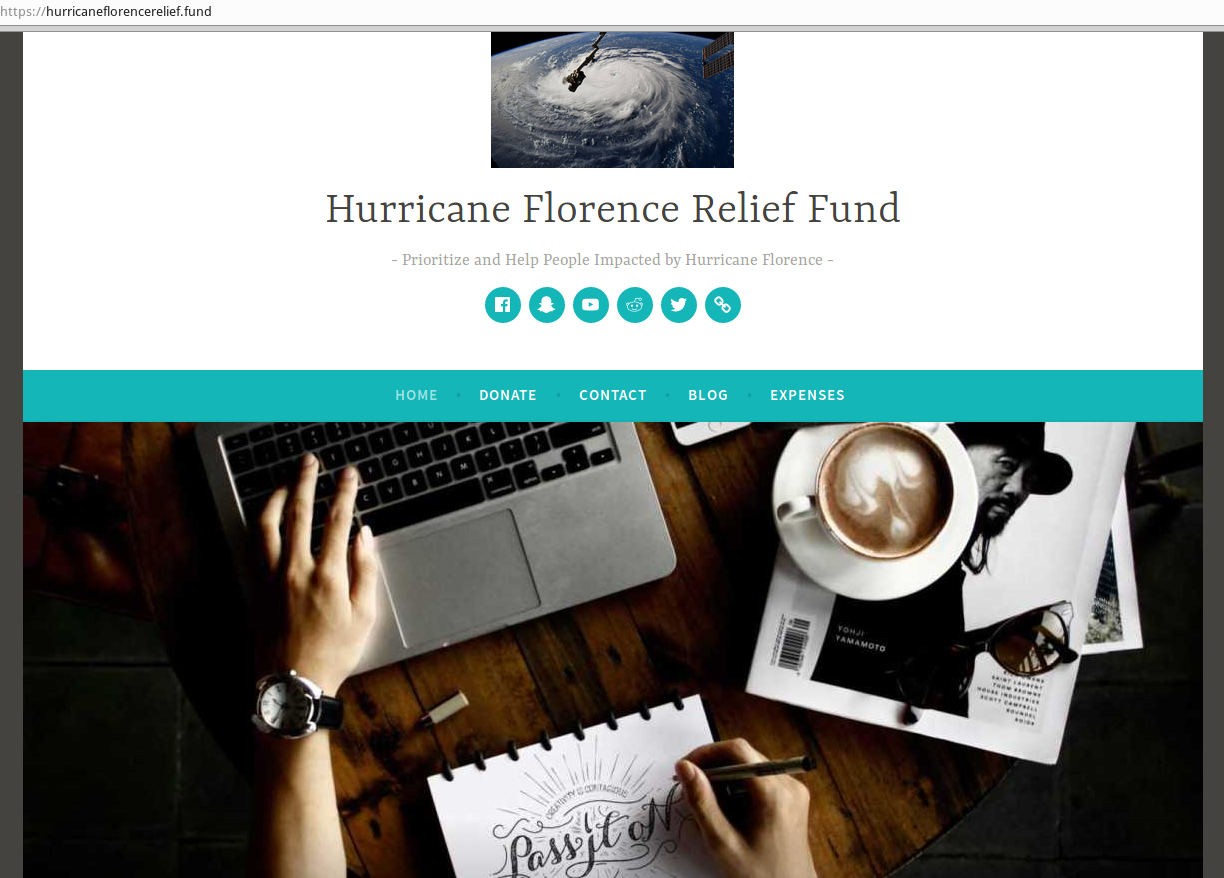 Beware of Hurricane Florence Relief Scams — Krebs on Security